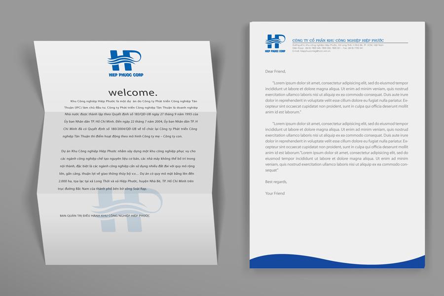 Thiết kế logo & Bộ nhận điện thương hiệu KCN Hiệp Phước